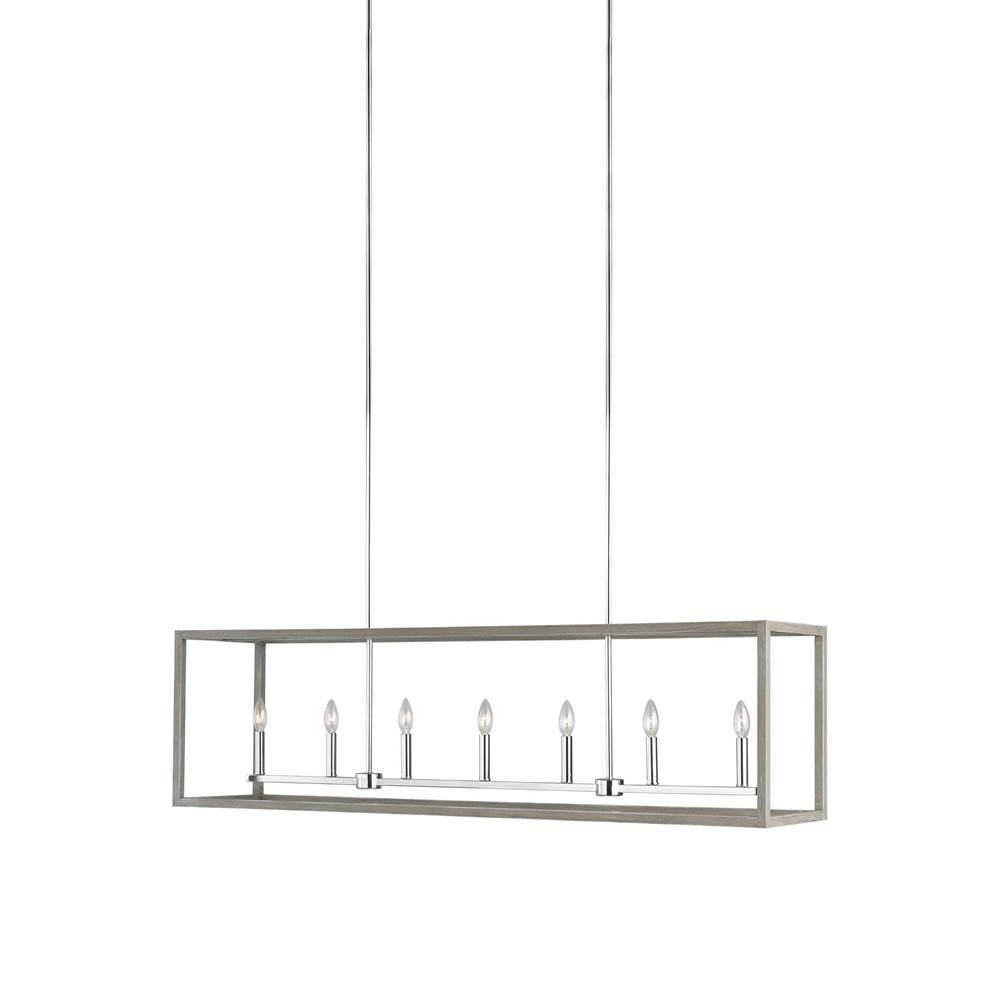 Generation Lighting Long Seven Light Island Pendant