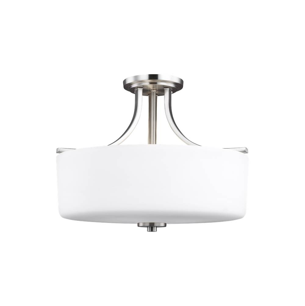 Generation Lighting Three Light Semi-Flush Mount
