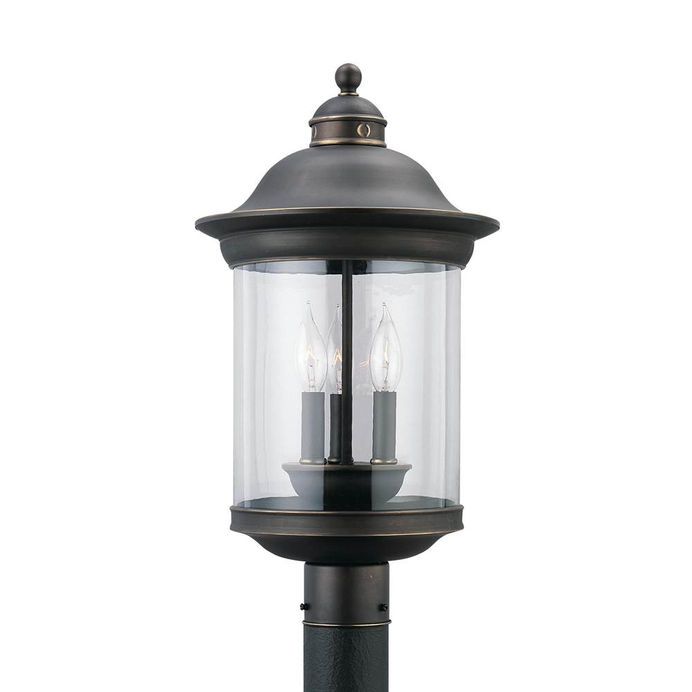 Generation Lighting Three Light Outdoor Post Lantern