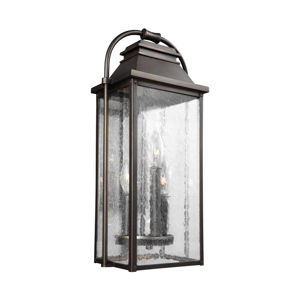feiss lighting ol13200anbz 3 light outdoor wall lantern - Feiss Lighting