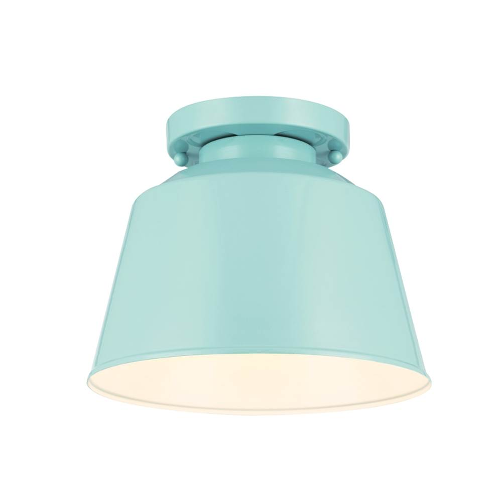 Feiss lighting ol15013shbl 1 light outdoor flushmount