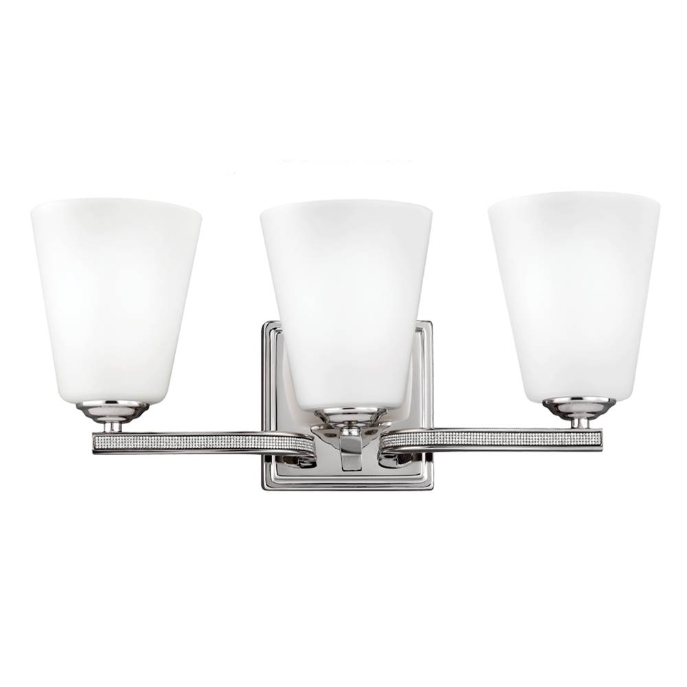 Wall Lighting Bathroom Lights Three Light Vanity | Sea Gull Lighting ...